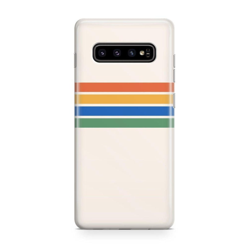 Rainbow Stripes Color Block Case iPhone Case Get.Casely Classic Galaxy S10 Plus