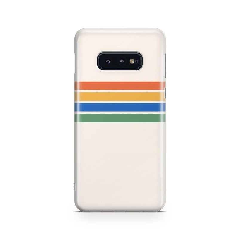 Rainbow Stripes Color Block Case iPhone Case Get.Casely Classic Galaxy S10E