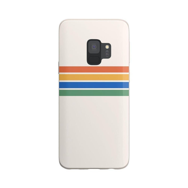 Rainbow Stripes Color Block Case iPhone Case Get.Casely Classic Galaxy S9