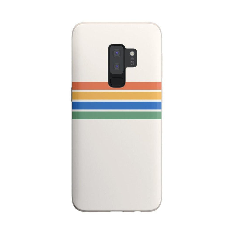 Rainbow Stripes Color Block Case iPhone Case Get.Casely Classic Galaxy S9 Plus