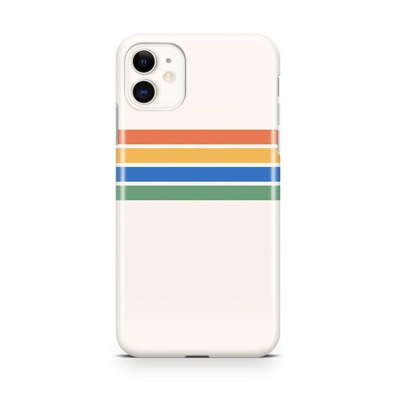 Rainbow Stripes Color Block Case iPhone Case Get.Casely Classic iPhone 11