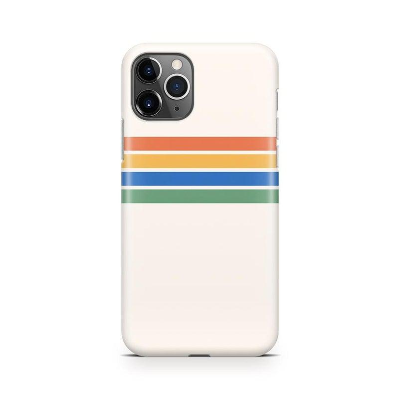 Rainbow Stripes Color Block Case iPhone Case Get.Casely Classic iPhone 11 Pro