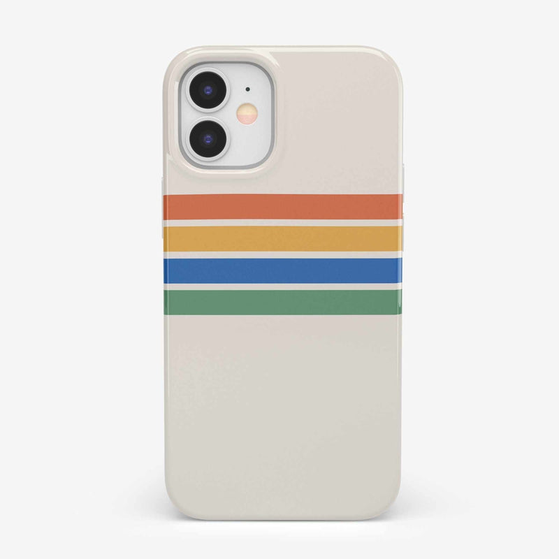 Rainbow Stripes Color Block Case iPhone Case get.casely Classic iPhone 12 Mini