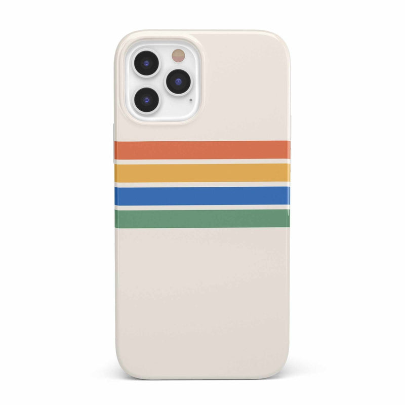 Rainbow Stripes Color Block Case iPhone Case get.casely Classic iPhone 12 Pro