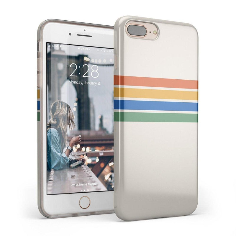 Rainbow Stripes Color Block Case iPhone Case Get.Casely Classic iPhone 6/6s Plus