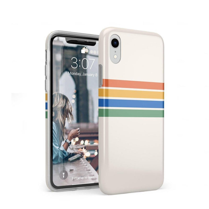 Rainbow Stripes Color Block Case iPhone Case Get.Casely Classic iPhone XR