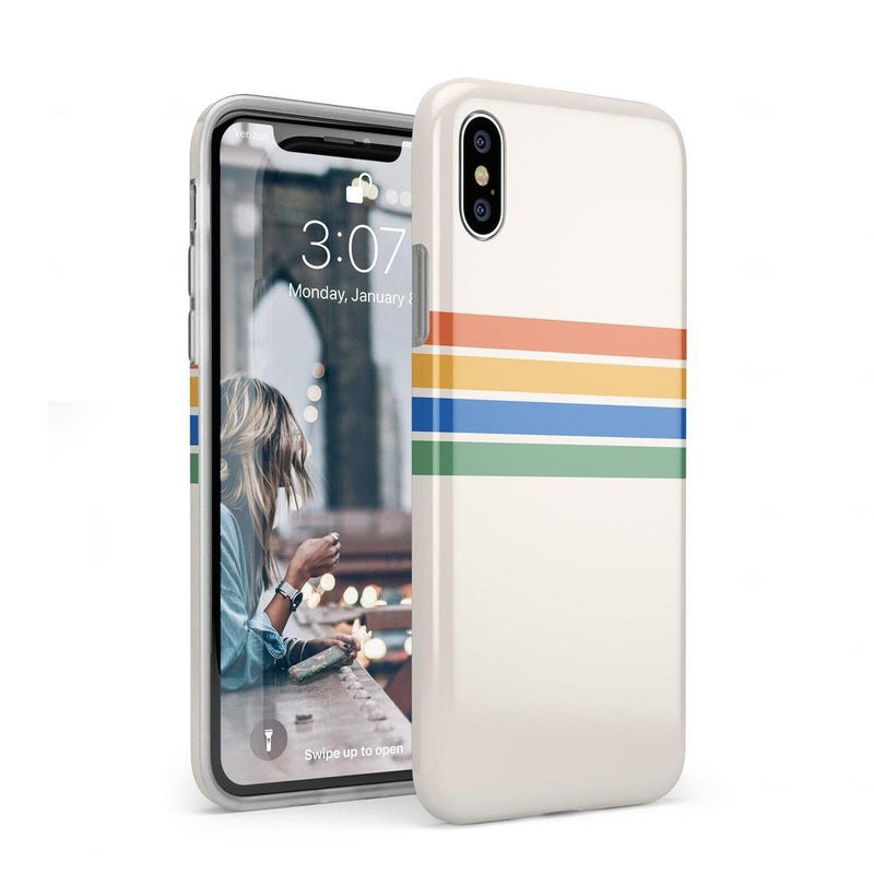 Rainbow Stripes Color Block Case iPhone Case Get.Casely Classic iPhone XS Max