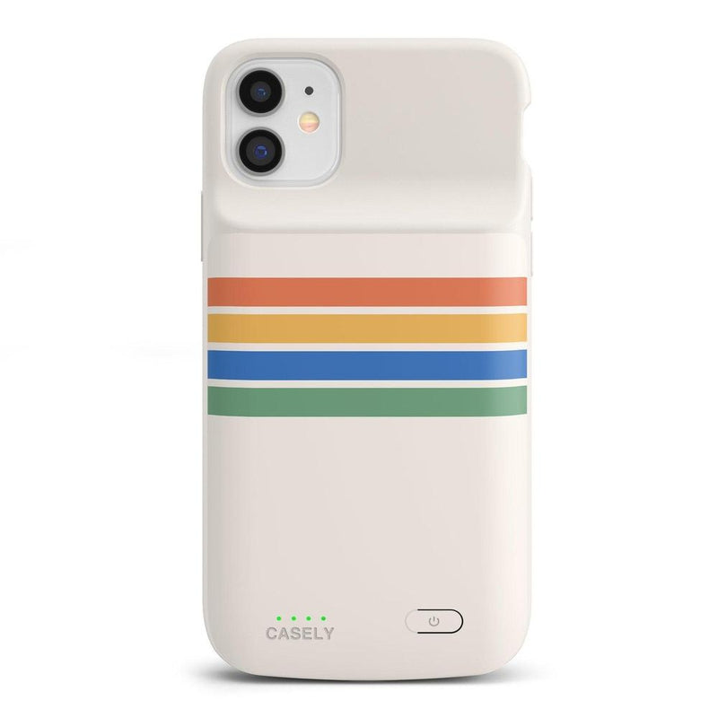 Rainbow Stripes Color Block Case iPhone Case get.casely Power 2.0 iPhone 11