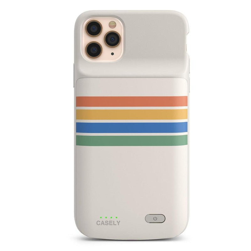 Rainbow Stripes Color Block Case iPhone Case get.casely Power 2.0 iPhone 11 Pro Max
