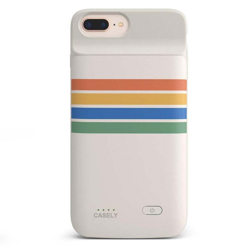 Rainbow Stripes Color Block Case iPhone Case get.casely Power 2.0 iPhone 8 Plus