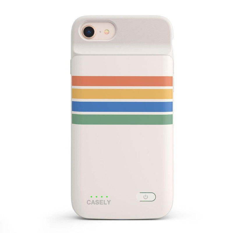 Rainbow Stripes Color Block Case iPhone Case get.casely Power 2.0 iPhone SE (2020)