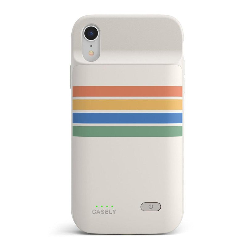 Rainbow Stripes Color Block Case iPhone Case get.casely Power 2.0 iPhone XR