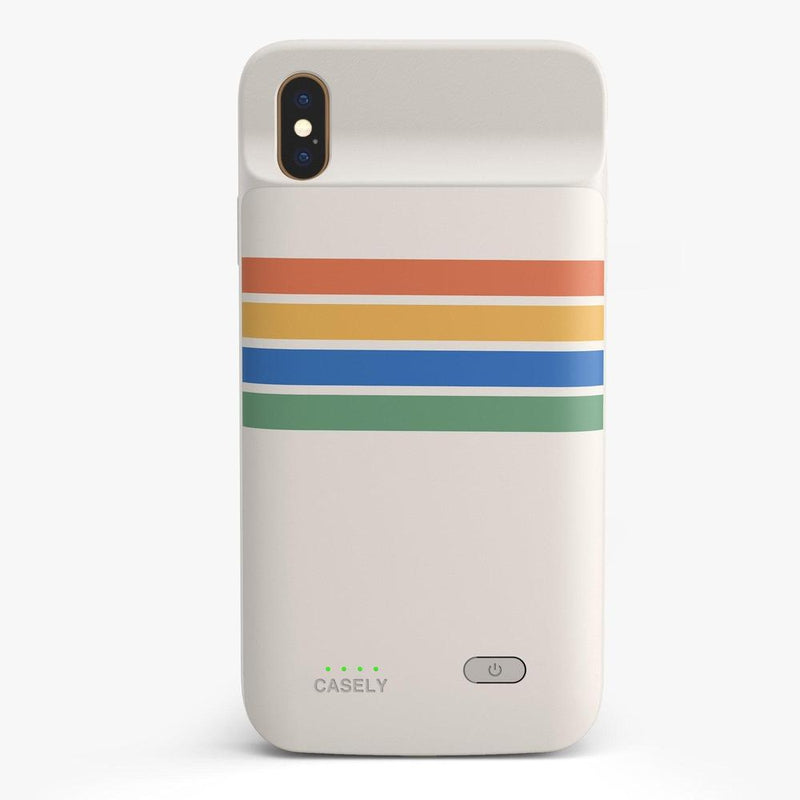 Rainbow Stripes Color Block Case iPhone Case get.casely Power 2.0 iPhone XS Max