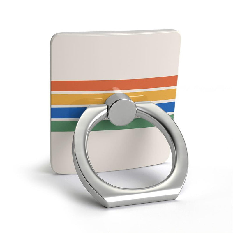 Rainbow Stripes Color Block Phone Ring Phone Ring get.casely