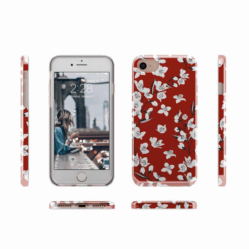 Red Cherry Blossom Floral Case iPhone Case get.casely