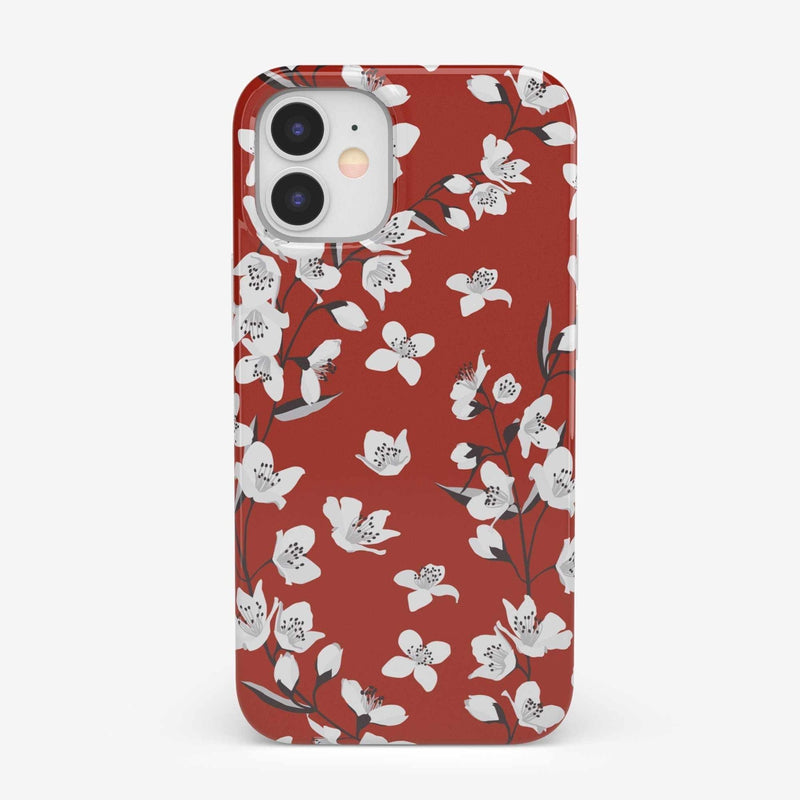Red Cherry Blossom Floral Case iPhone Case get.casely Classic iPhone 12 Mini