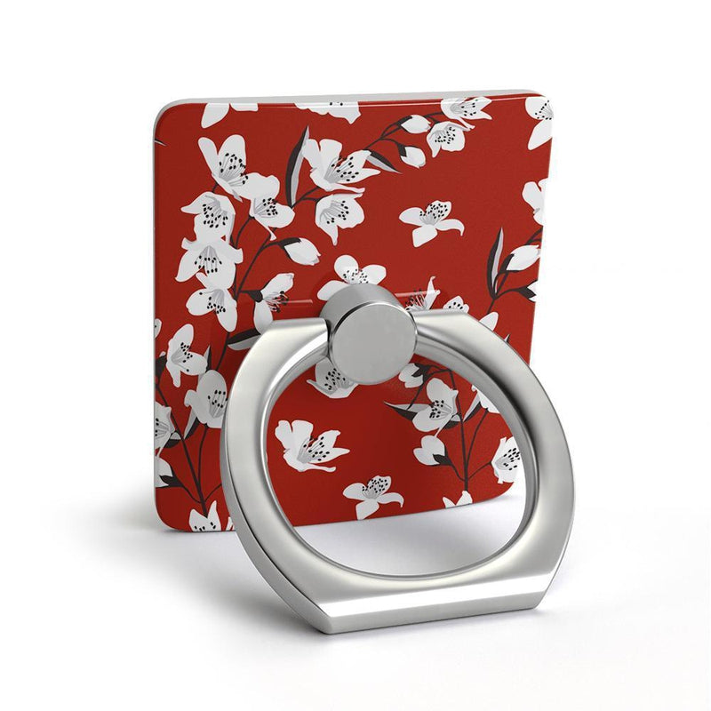 Red Cherry Blossom Floral Phone Ring Phone Ring get.casely