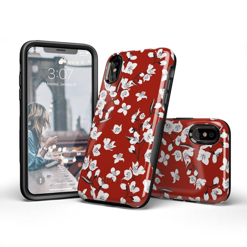 Red Flower Power Floral Case iPhone Case Get.Casely