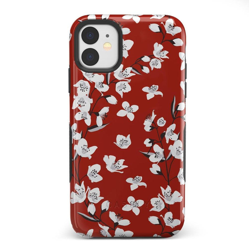 Red Flower Power Floral Case iPhone Case Get.Casely Bold iPhone 11