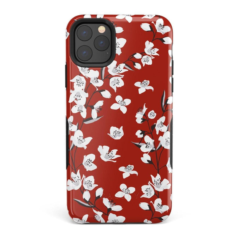 Red Flower Power Floral Case iPhone Case Get.Casely Bold iPhone 11 Pro