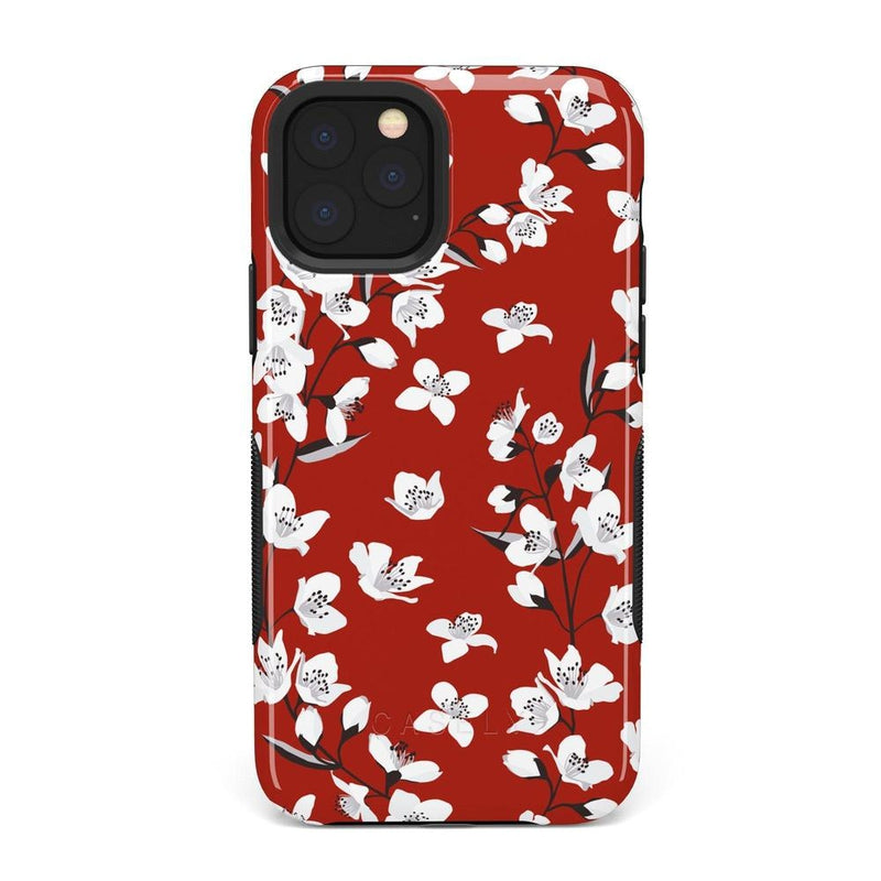Red Flower Power Floral Case iPhone Case Get.Casely Bold iPhone 11 Pro Max