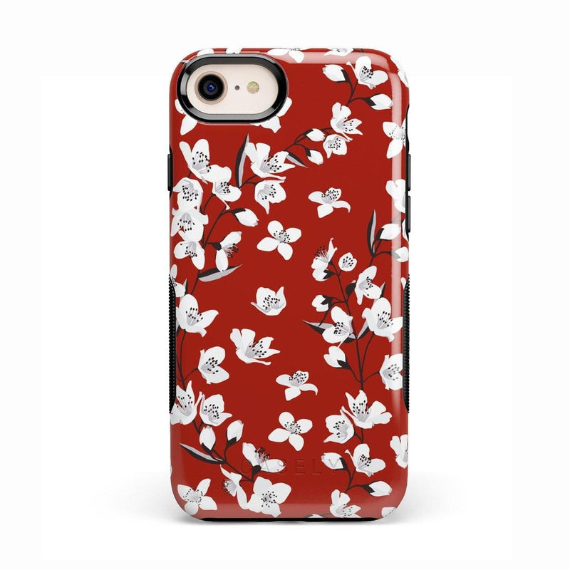 Red Flower Power Floral Case iPhone Case Get.Casely Bold iPhone 8
