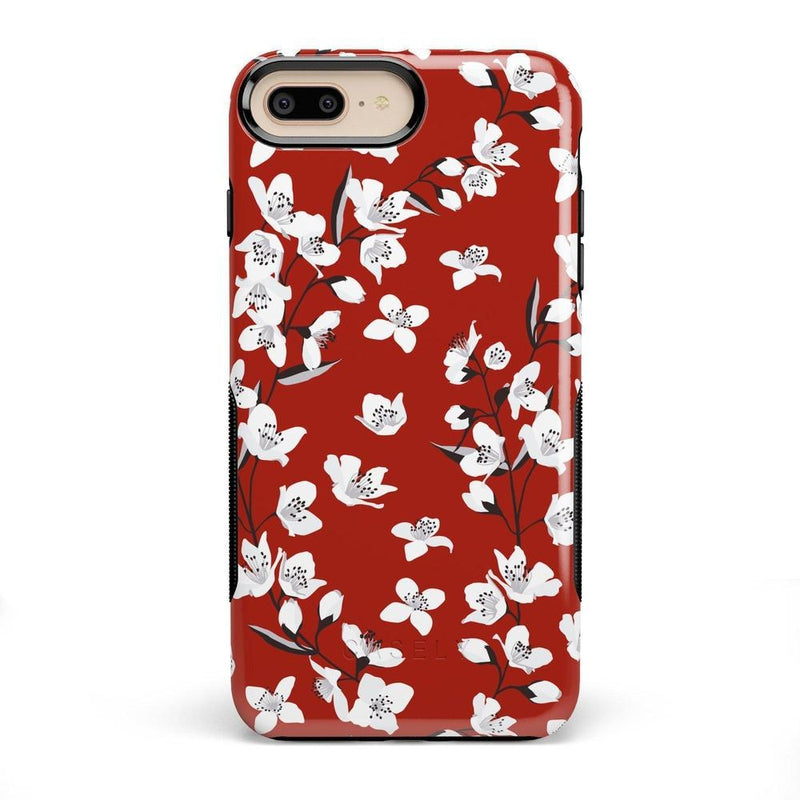 Red Flower Power Floral Case iPhone Case Get.Casely Bold iPhone 8 Plus