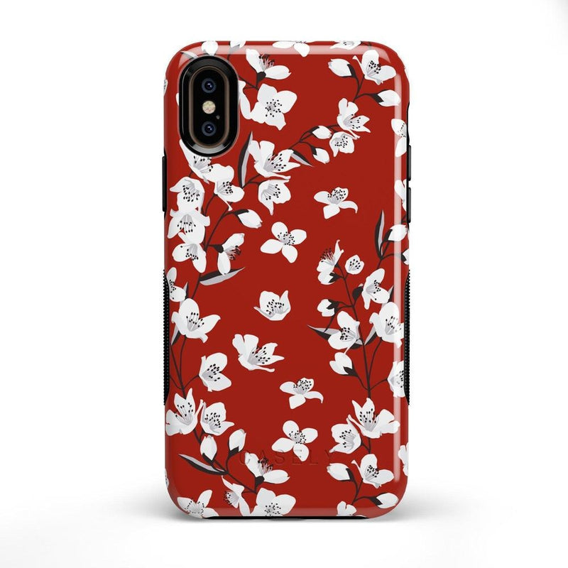 Red Flower Power Floral Case iPhone Case Get.Casely Bold iPhone X / XS