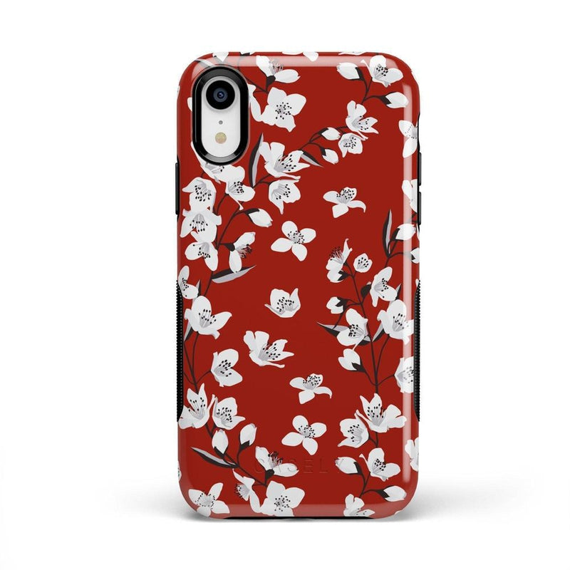 Red Flower Power Floral Case iPhone Case Get.Casely Bold iPhone XR
