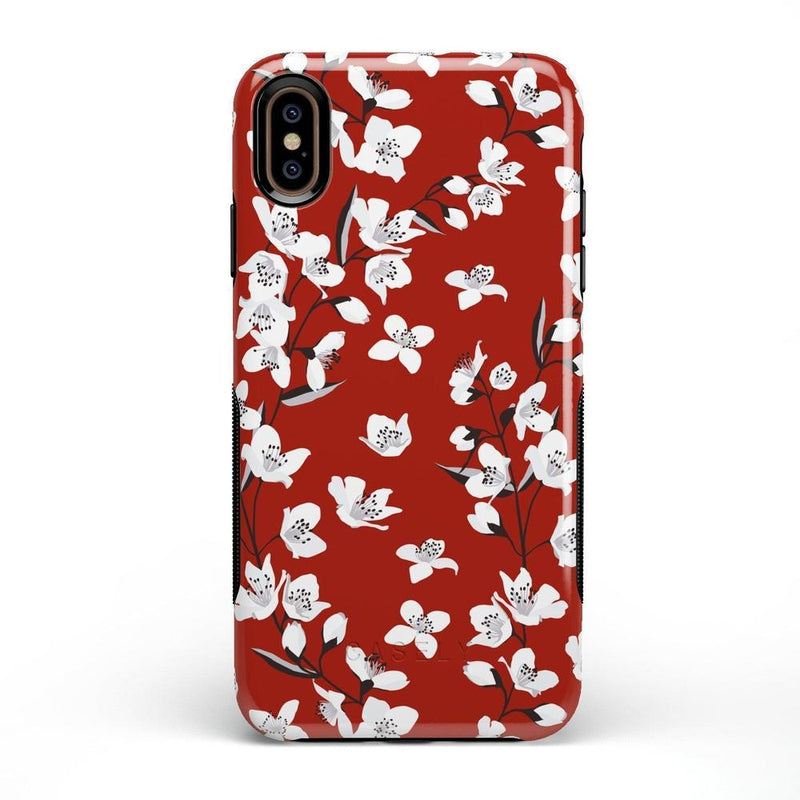 Red Flower Power Floral Case iPhone Case Get.Casely Bold iPhone XS Max