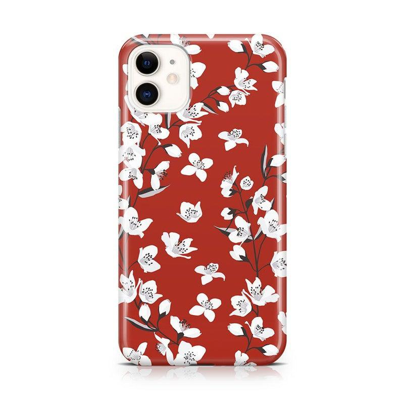 Red Flower Power Floral Case iPhone Case Get.Casely Classic iPhone 11