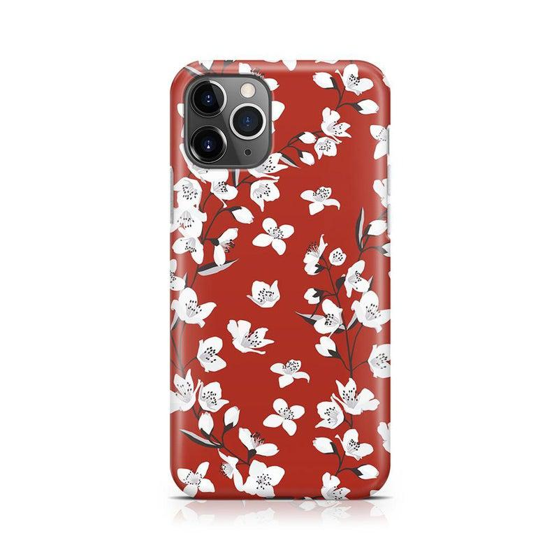Red Flower Power Floral Case iPhone Case Get.Casely Classic iPhone 11 Pro