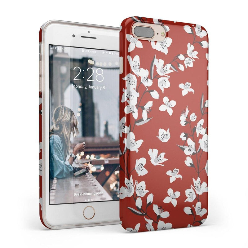 Red Flower Power Floral Case iPhone Case Get.Casely Classic iPhone 6/6s Plus