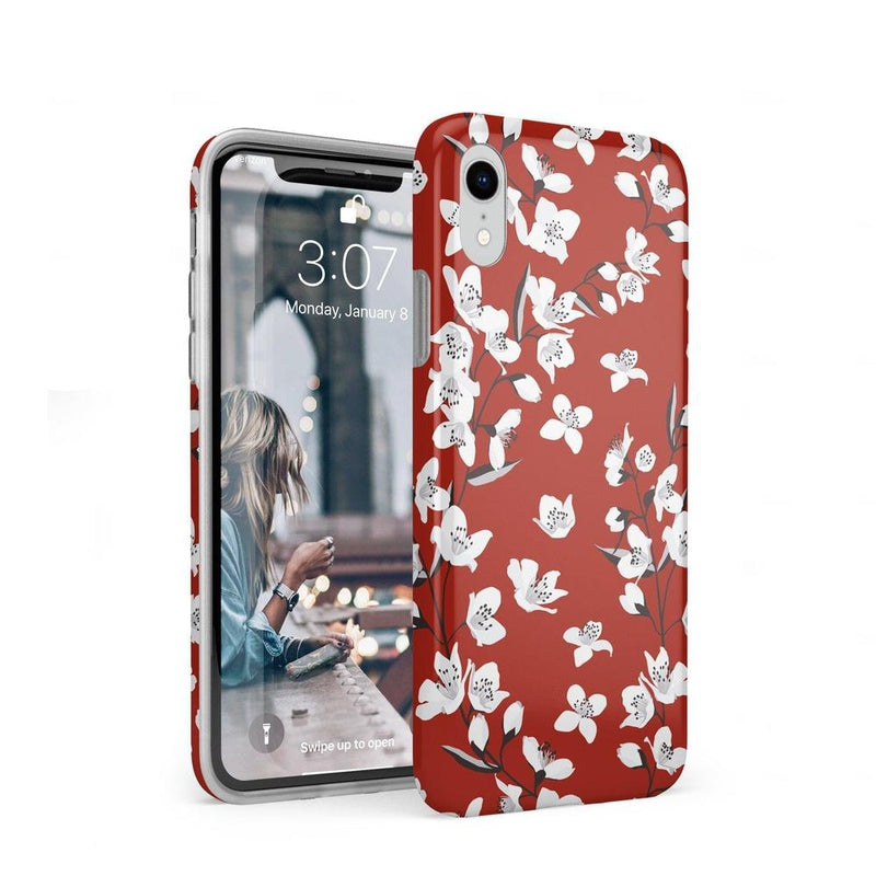 Red Flower Power Floral Case iPhone Case Get.Casely Classic iPhone XR