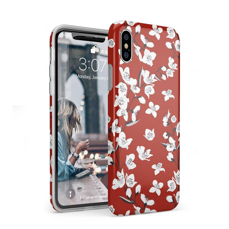 Red Flower Power Floral Case iPhone Case Get.Casely Classic iPhone XS Max