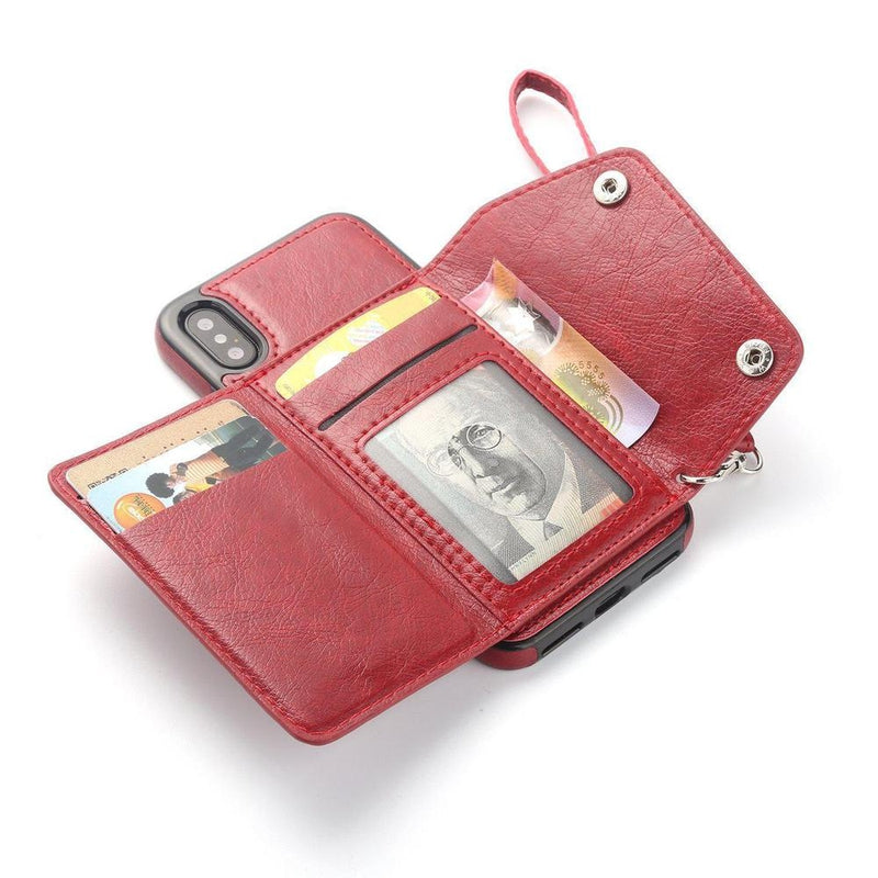 Red Leather Wallet Case iPhone Case get.casely