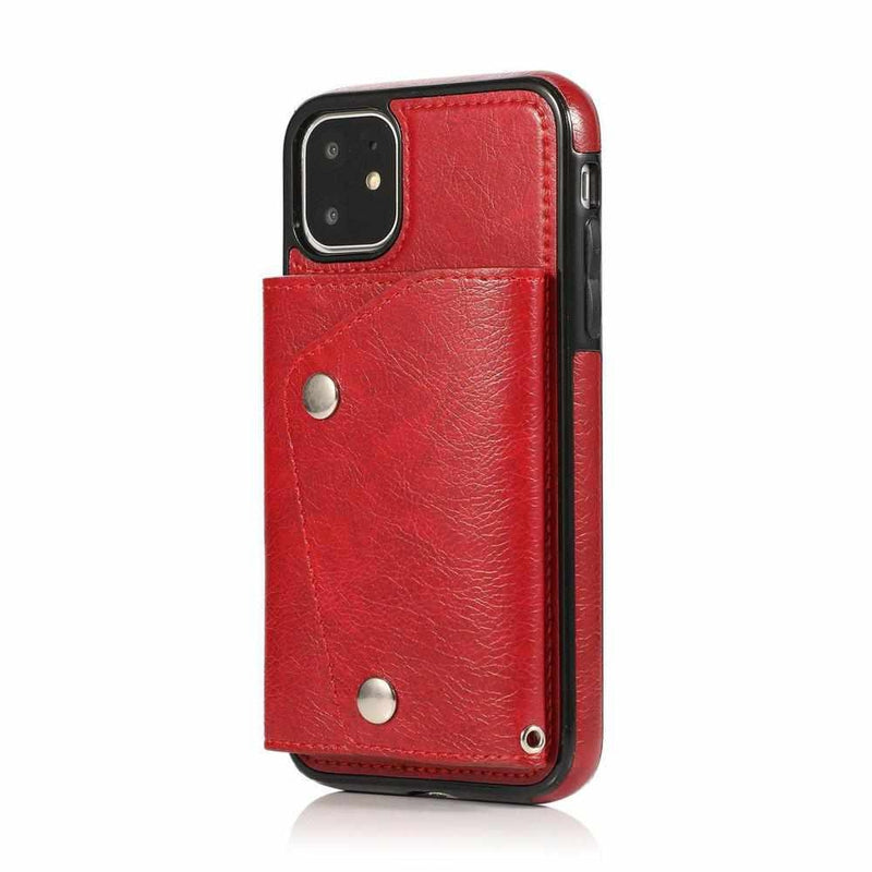 Red Leather Wallet Case iPhone Case get.casely iPhone 11