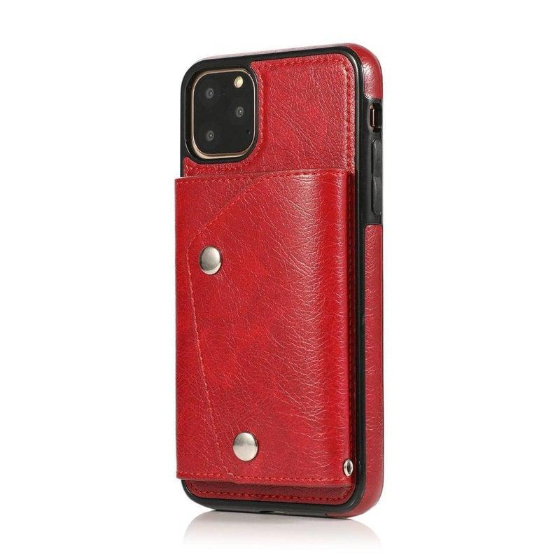 Red Leather Wallet Case iPhone Case get.casely iPhone 11 Pro