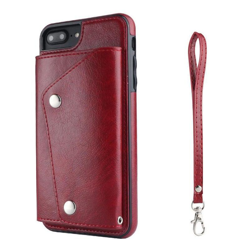 Red Leather Wallet Case iPhone Case get.casely iPhone 6/6s