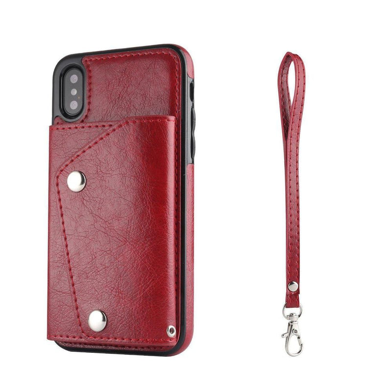 Red Leather Wallet Case iPhone Case get.casely iPhone X / XS