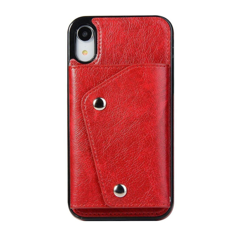 Red Leather Wallet Case iPhone Case get.casely iPhone XR