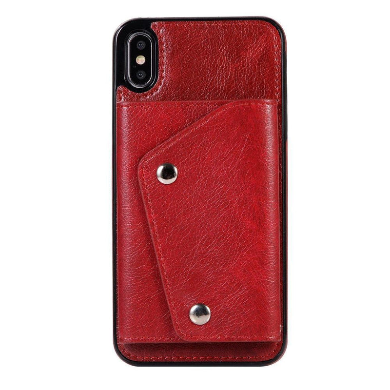 Red Leather Wallet Case iPhone Case get.casely iPhone XS Max
