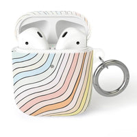 Ride The Wave | Pastel Rainbow Lined AirPods Case AirPods Case CASELY