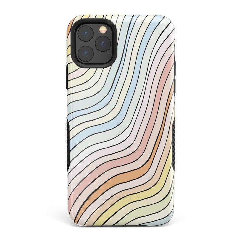 Ride The Wave | Pastel Rainbow Lined Case iPhone Case get.casely Bold iPhone 11 Pro Max