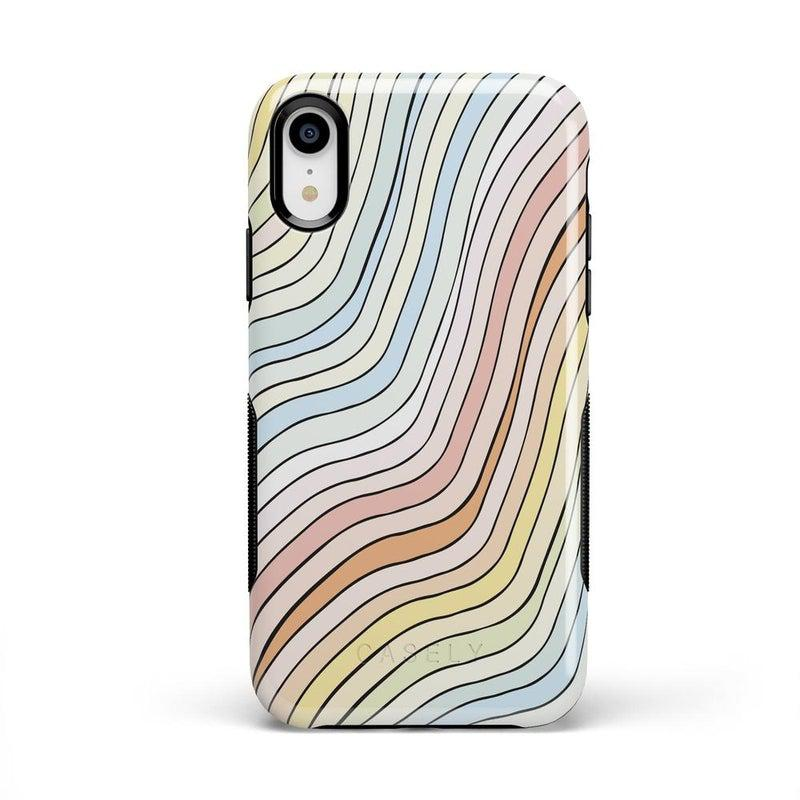 Ride The Wave | Pastel Rainbow Lined Case iPhone Case get.casely Bold iPhone XR