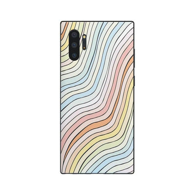 Ride The Wave | Pastel Rainbow Lined Case iPhone Case get.casely Classic iPhone SE (2020)