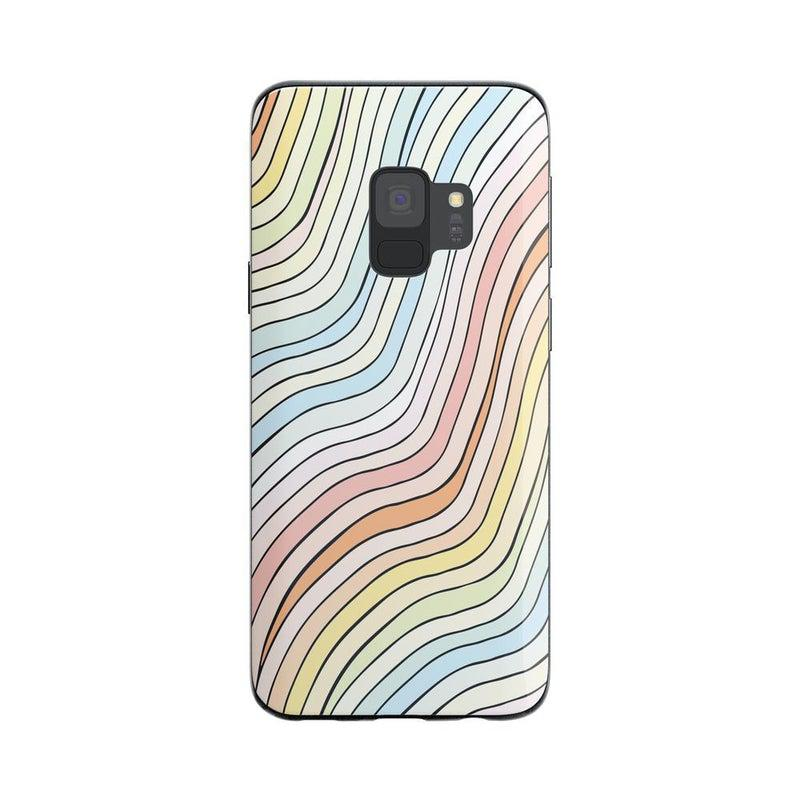 Ride The Wave | Pastel Rainbow Lined Case iPhone Case get.casely Classic Galaxy S9