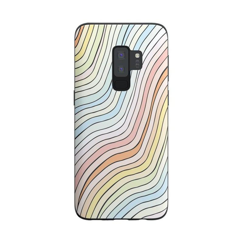 Ride The Wave | Pastel Rainbow Lined Case iPhone Case get.casely Classic Galaxy S9 Plus