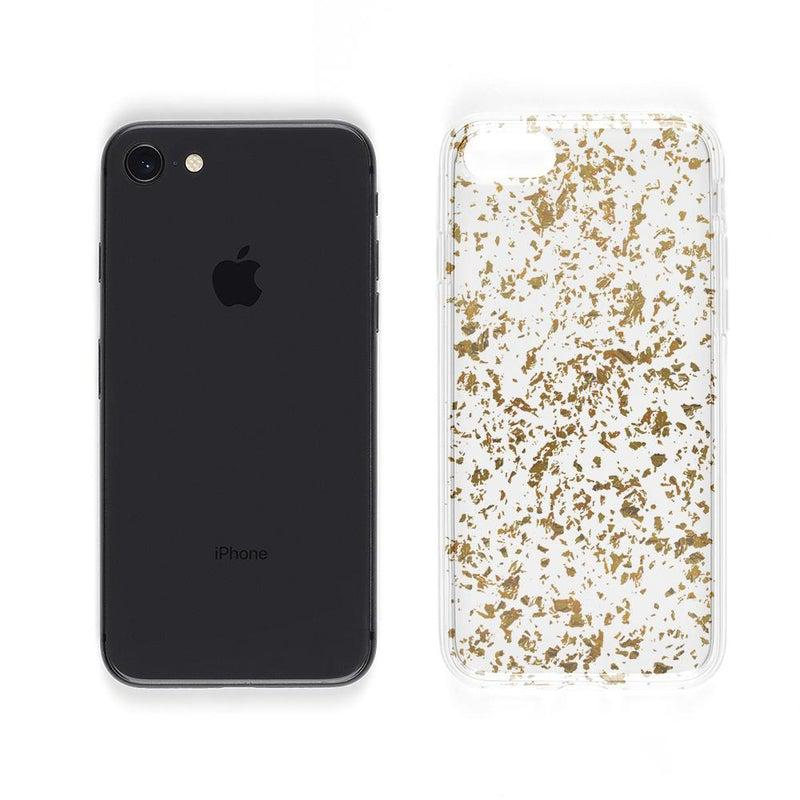 Rose and Gold Flaked Clear Case iPhone Case Get.Casely