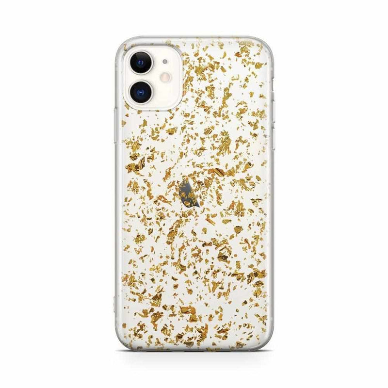 Rose and Gold Flaked Clear Case iPhone Case Get.Casely Classic iPhone 11